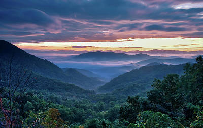 Photograph - Smoky Mountains Sunrise View by Andy Crawford
