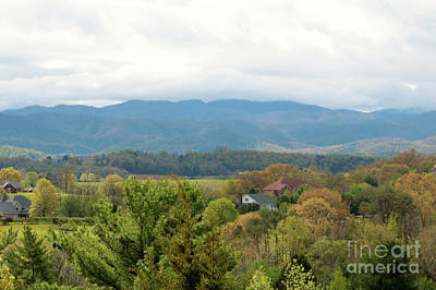 Photograph - Smoky Mountains With Clouds And Valley by Carol Groenen