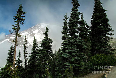 Photograph - Smoky Rainier by Deborah Klubertanz