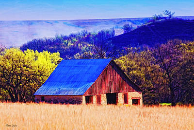 Photograph - Smoky Stone Barn by Anna Louise