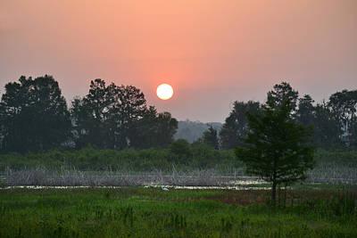 Photograph - Smoky Sunrise by rd Erickson