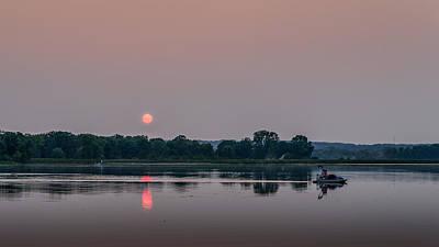 Photograph - Smoky Sunset At Phantom Lake by Randy Scherkenbach