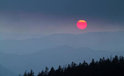 Photograph - Smoky Sunset by Joe Miller