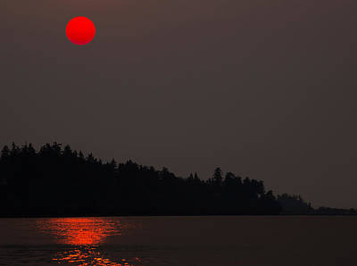 Photograph - Smoky Sunset by Randy Hall