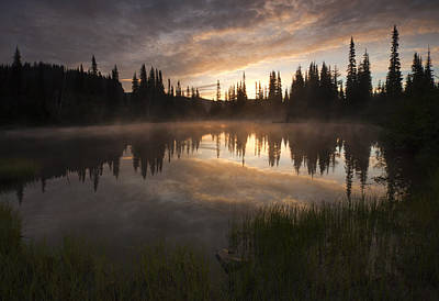 Dawn Photograph - Smoldering Dawn by Mike  Dawson