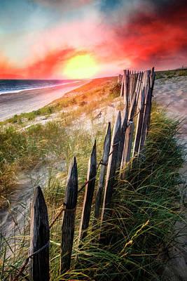Photograph - Smoldering Sunset by Debra and Dave Vanderlaan