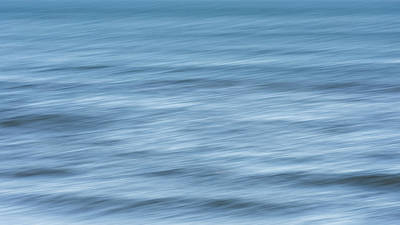 Photograph - Smooth Blue Abstract by Terry DeLuco