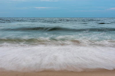 Photograph - Smooth Blue Wave Seaside Nj by Terry DeLuco