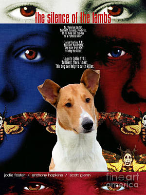Painting - Smooth Collie Art Canvas Print - The Silence Of The Lambs Movie Poster by Sandra Sij