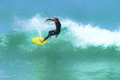 Digital Art - Smooth Dreadlocks Surfer Watercolor by Scott Campbell