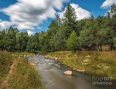 Photograph - Smooth Mountain Stream by Leo Bounds