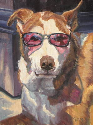 Mongrel Painting - Smooth Operator  by Michelle Murphy-Ferguson
