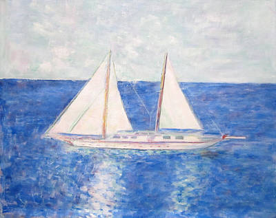 Painting - Sailing Around Greek Islands by Glenda Crigger