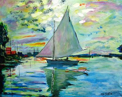 Painting - Smooth Sailing by Mike Benton