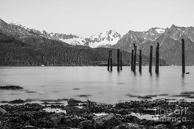 Smooth Seward Alaska Grayscale Art Print