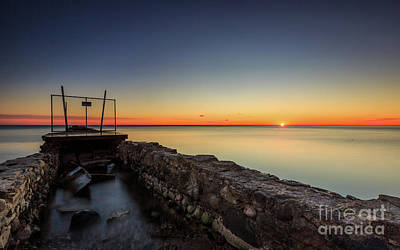 Smooth Sunrise Sparkle Art Print by Andrew Slater