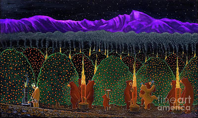 Smudge Pot Painting - Smudge Bears by Dennis Shives