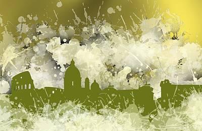 Skyline Digital Art - Smudge Rome Skyline.4 by Alberto RuiZ
