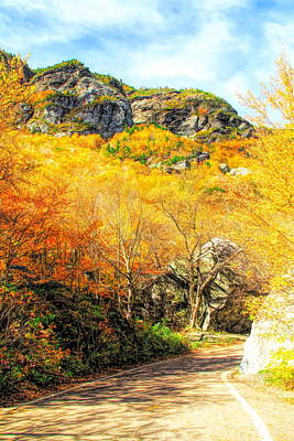 Photograph - Smugglers Notch Road In Autumn by Dan Sproul