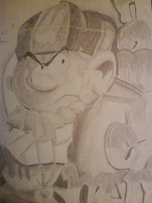 Drawing - Smurf by Milton  Gore