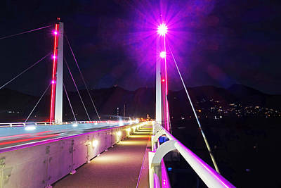 Sint Maarten Wall Art - Photograph - Sxm Saint Martin Bridge Lit Up At Night by Toby McGuire