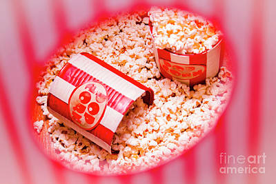 Snack Bar Pop Corn Art Print