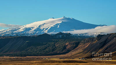 Photograph -  Snaefellsjokull Volcano 2 Iceland by Chris Thaxter