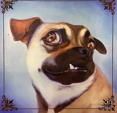 Painting - Snaggle Tooth Puppy by Suzn Art Memorial