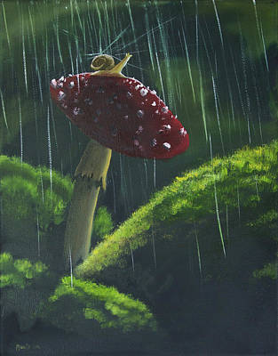 Wet On Wet Painting - Snail Friend by Adam Morris