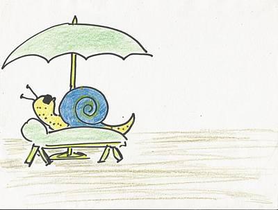 Snail Life Original by Gabriel Coelho
