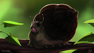 Painting - Snail by Michael Clarke