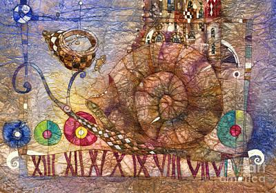 Snail Wall Art - Mixed Media - Snail by Svetlana and Sabir Gadghievs