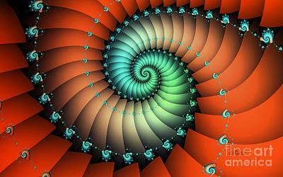 Cross Digital Art Digital Art - Snails On The Way by Jutta Maria Pusl