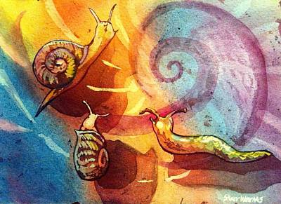 Painting - Snails by Starr Weems