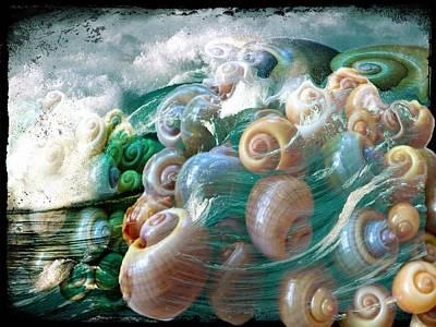 Epic Digital Art - Snailshellwave Ocean by Marco De Mooy