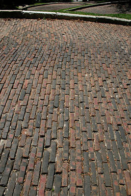 Photograph - Snake Alley Bricks by Dylan Punke