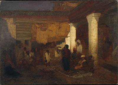 Tangier Painting - Snake Charmer At Tangier by Eastern Accent