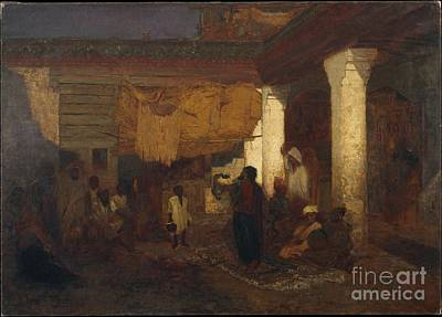 Tangier Painting - Snake Charmer At Tangier by Celestial Images