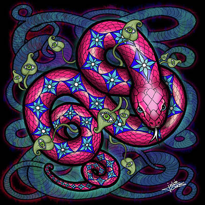 Drawing - Snake Charmer by Julie Oakes