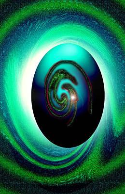 Digital Art - Snake Egg Blue by Dan Sheldon