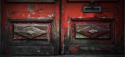 Photograph - Snake Eyes On Red Door by Nadalyn Larsen