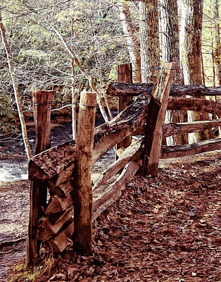 Photograph - Snake Fence by B Wayne Mullins