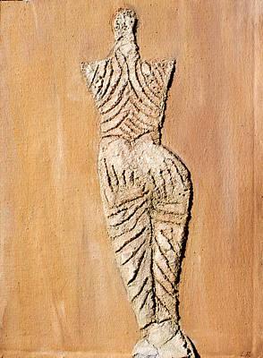 Cucuteni Painting - Snake Goddess by Lisa Baack