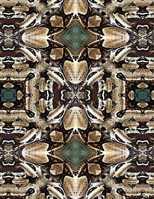 Boa Constrictor Digital Art - Snake II by Maria Watt