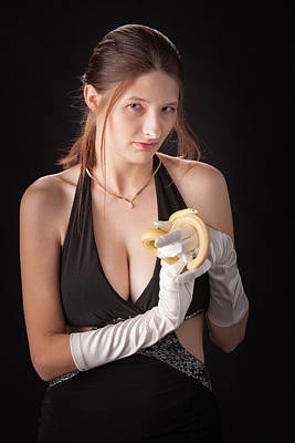 Photograph - Snake Lady Or Girl With Live Snake Photograph 5251.02 by M K Miller