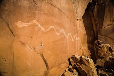 Photograph - Snake Petroglyph by Whit Richardson