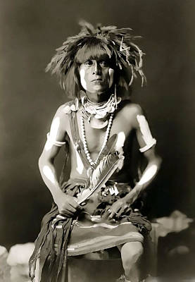 Snake Priest  - Hopi Tribe C. 1900 Art Print by Daniel Hagerman