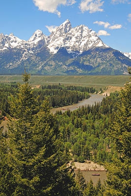 Photograph - Snake River And Tetons by Alan Lenk