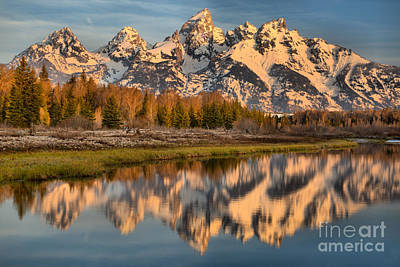 Photograph - Snake River Blue Sky Reflections by Adam Jewell