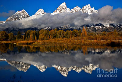 Photograph - Snake River Fall Reflections by Adam Jewell